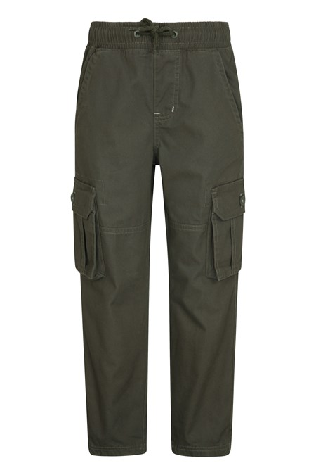 028555 PULL UP KIDS JERSEY LINED CARGO TROUSER