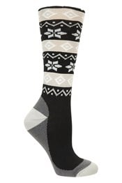 Womens Patterned Ski Socks