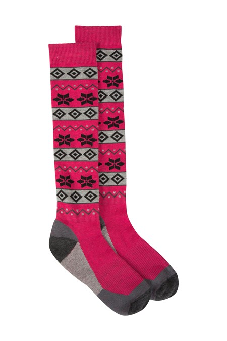 028566 PATTERNED WOMENS SKI SOCK