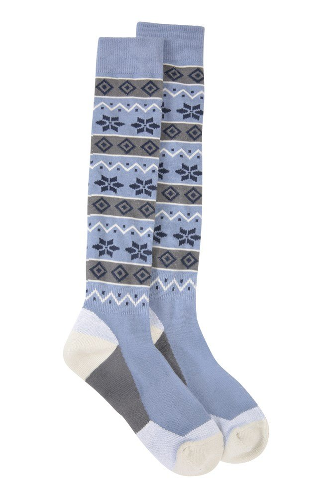 Mountain Warehouse Patterned Womens Ski Sock with Fine Toe Seam Secure Stretch
