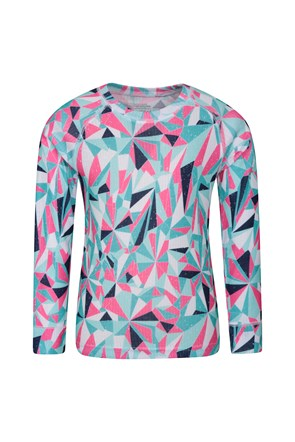 Talus Printed Kids Round Neck Base Layer Top