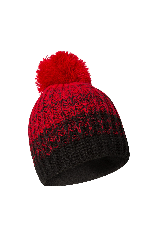 Geneva Melange Fleece Lined Womens Beanie - Red 0c373cb0660