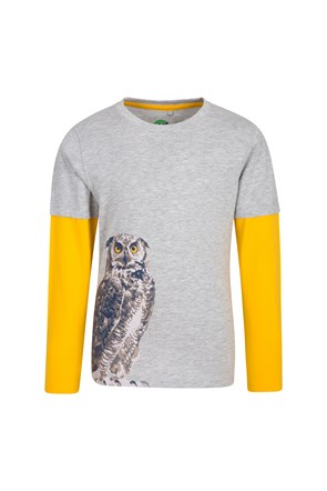 Steve Backshall Owl Raglan Kids Top