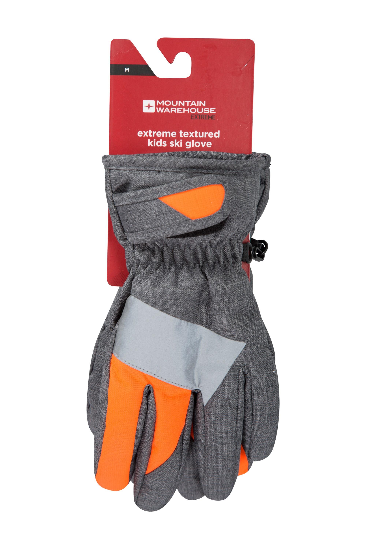Extreme Textured Kids Ski Glove - Orange
