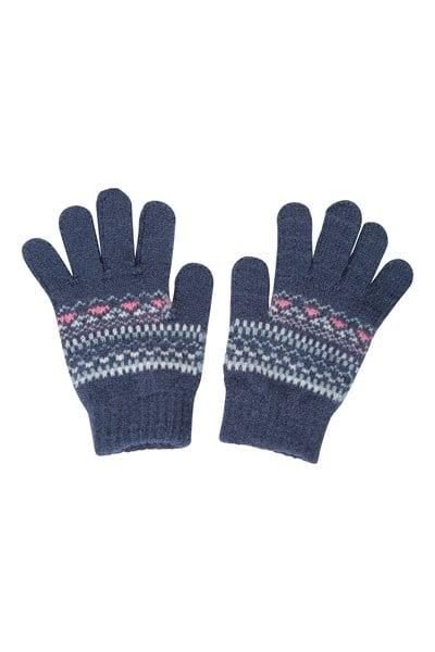 Penguin Knitted Kids Gloves - Pink