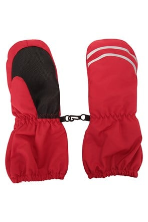 Long Cuff Kids Snow Mittens