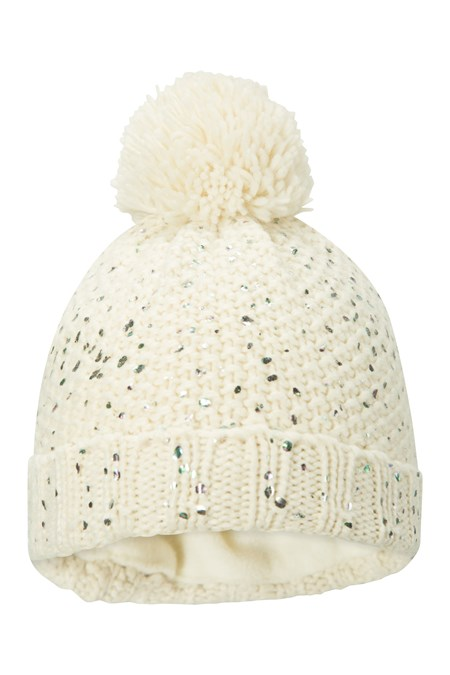 028717 MERMAID SPARKLE KIDS POM POM BEANIE