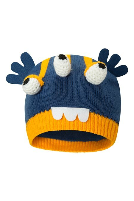 028720 ALIEN KIDS FLEECE LINED KNITTED HAT