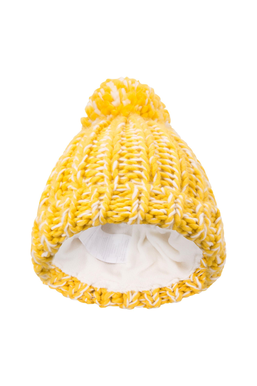 Chunky Knitted Kids Beanie - Yellow