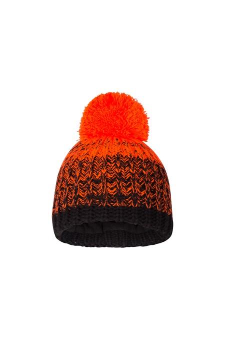 754a1753e5f Fleece Lined Kids Knitted Beanie - Orange