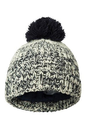 Twisted Knitted Kids Fleece Lined Beanie
