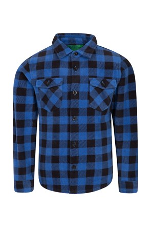 Checked Kids Fleece Shirt