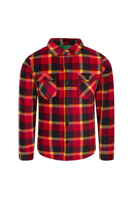 028750 FLEECE CHECK KIDS SHIRT