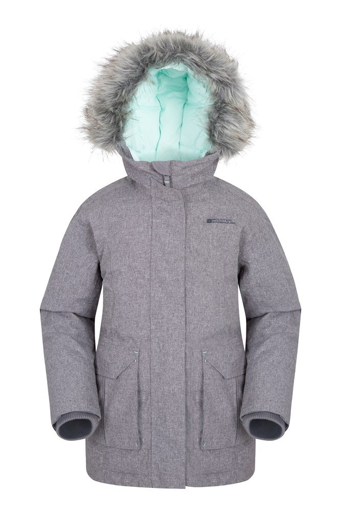 Freeze Over Kids Down Padded Jacket - Grey