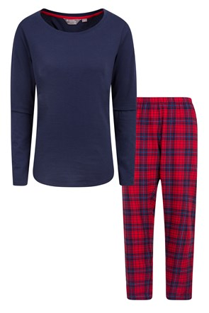 Womens Flannel Pyjama Set