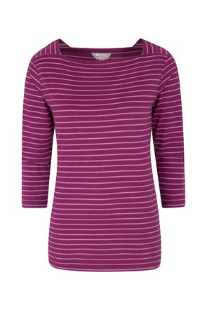 Pine Stripe Womens Top
