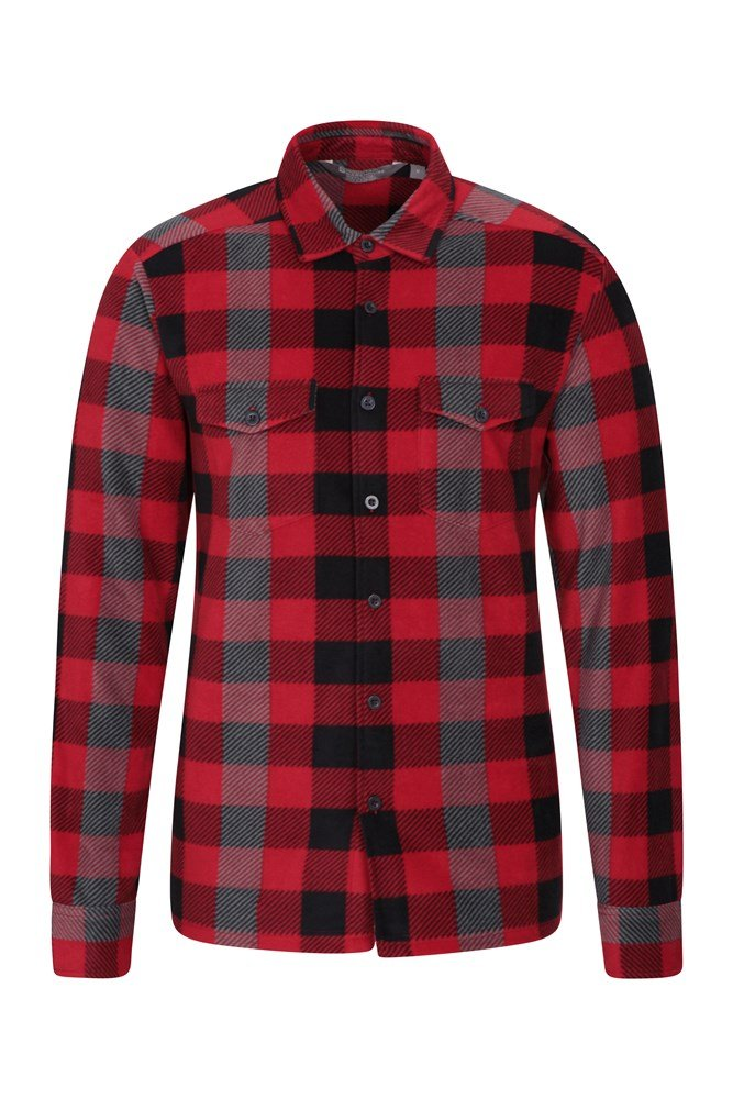 Chemise polaire hommes - Rouge