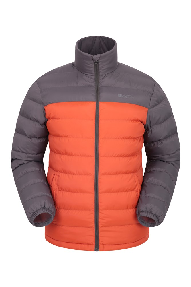 Vista Mens Padded Jacket - Orange