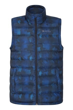 Seasons Printed Mens Padded Gilet