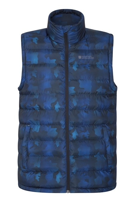 029853 SEASONS PRINTED PADDED GILET