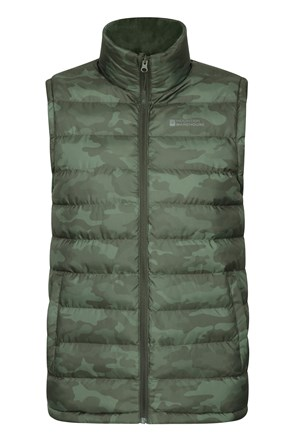 Seasons Printed Mens Insulated Vest