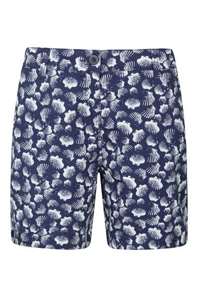 Lakeside II Printed Womens Shorts - Blue