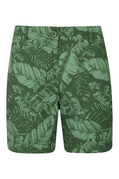 Lakeside II Printed Womens Shorts - Green