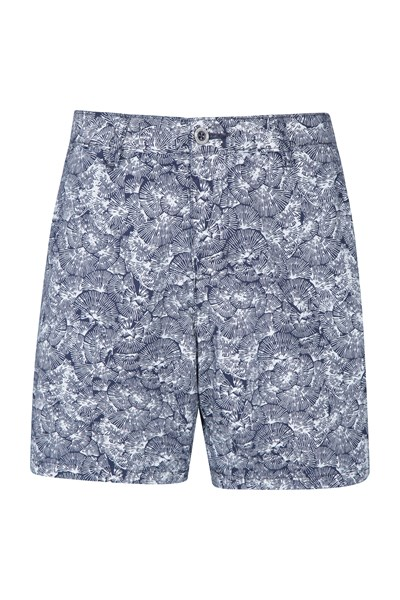 Lakeside II Printed Womens Shorts - Navy