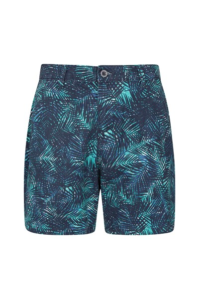 Lakeside II Printed Womens Shorts - Teal