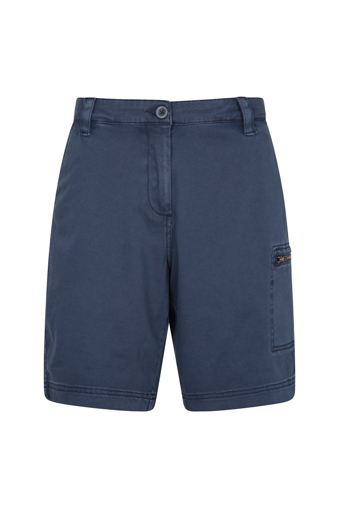 Cruise Stretch Damen-Shorts - Marineblau