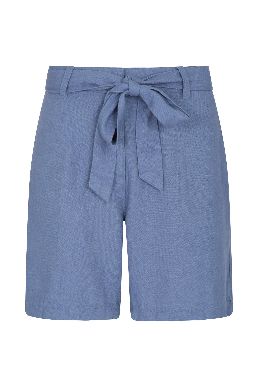 Ocean Leinen-Mischgewebe Damen-Shorts - Blau