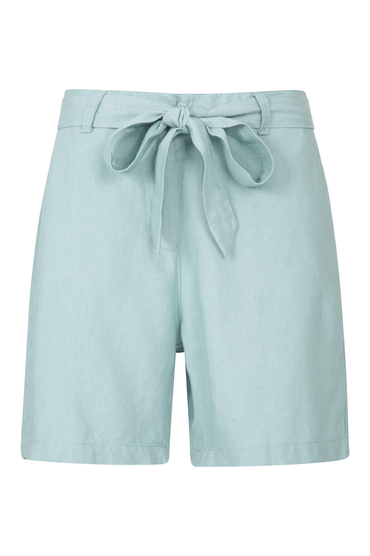 Ocean Leinen-Mischgewebe Damen-Shorts - Mintgrün