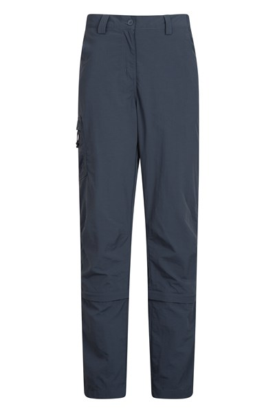 Explore Womens Capri Zip-Off Trousers - Grey