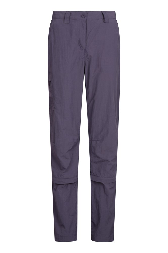 Explore Womens Capri Zip-Off Trousers - Purple
