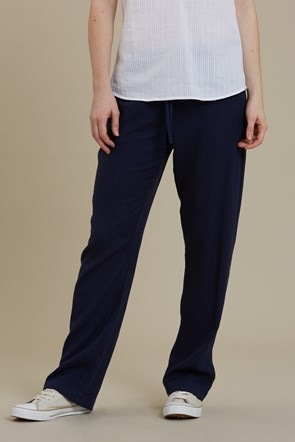 Breeze Linen-Blend Womens Trousers