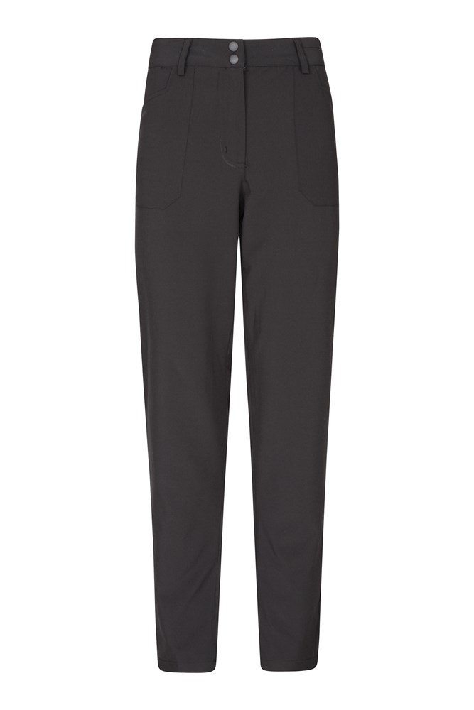 Stride Ultra-Light Slimline Womens Trousers - Short Length - Black