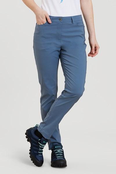 Stride Ultra-Light Slimline Womens Trousers - Short Length - Blue