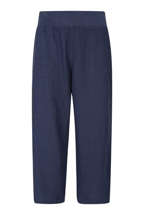 Skye Linen Blend Womens Capri Trousers