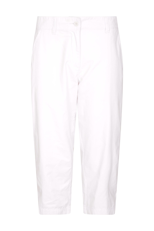 Somerset Casual - spodnie damskie capri - White