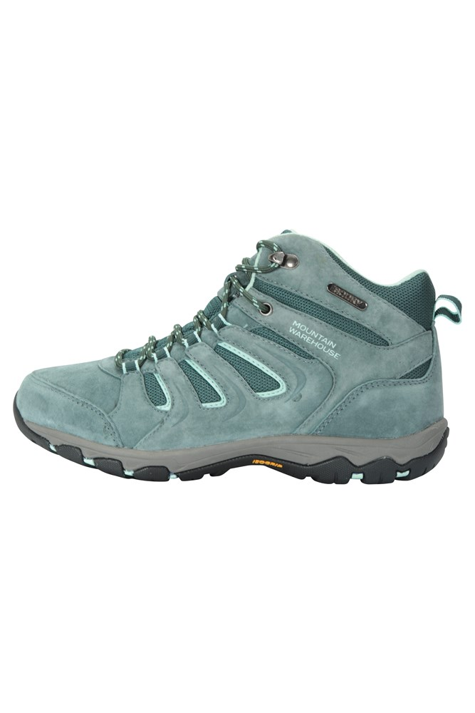 Mountain Warehouse Womens IsoDry Waterproof Shoes with Suede and Mesh Upper