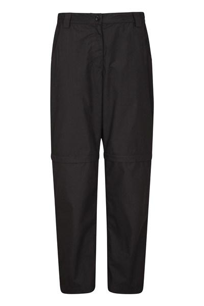 Quest Womens Zip-Off Trousers - Short Length - Black
