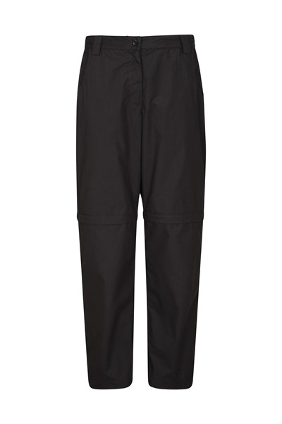 Quest Womens Zip-Off Trousers - Short Length - Black