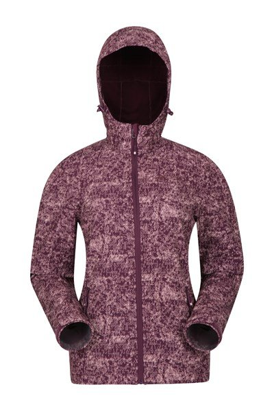 Exodus Printed Womens Softshell - Burgundy