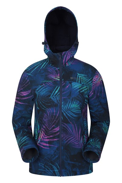 Exodus Printed Womens Softshell - Navy