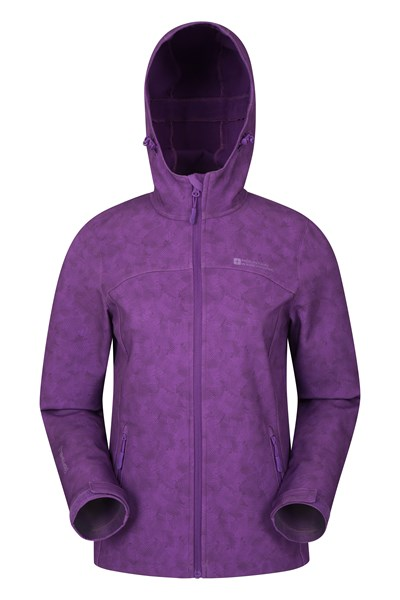 Exodus Printed Womens Softshell - Purple