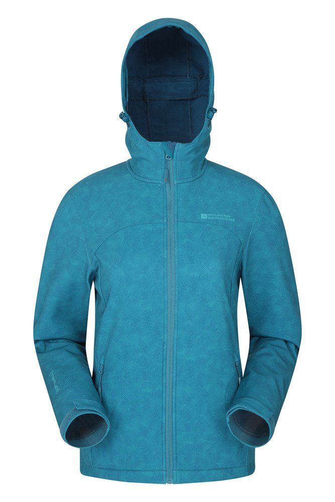 Exodus Printed Womens Softshell - Teal