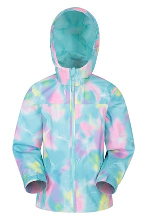 Torrent Printed Kids Waterproof Rain Jacket