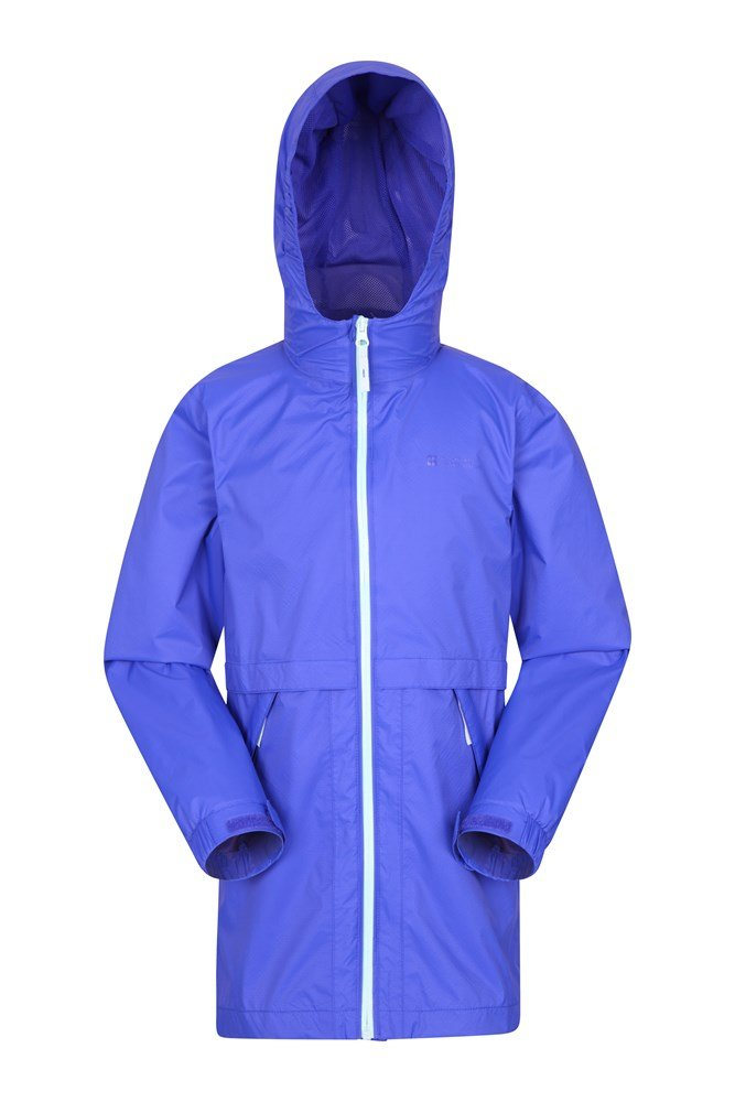 Torrent Longline Kids Waterproof Jacket - Blue