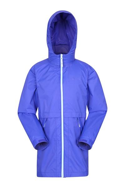 Torrent Longline Kids Waterproof Jacket - Blue
