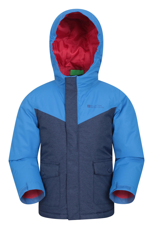 Mountain Warehouse Hunter Wasserdichte Gepolsterte Kinderjacke blau | 05057634198097
